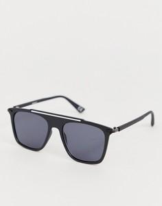 Черные солнцезащитные очки в стиле ретро ASOS DESIGN-Черный