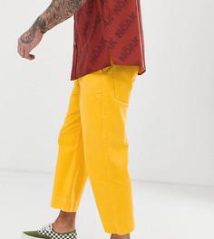 Укороченные джинсы с широкими штанинами темно-желтого цвета Noak-Желтый