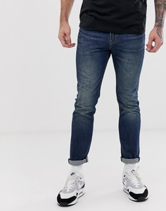 Темные выбеленные джинсы скинни с классической талией Levis 510 - megamouth warp cool-Синий Levis®