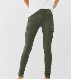 Джинсы скинни цвета хаки с карманами по бокам Esprit-Зеленый