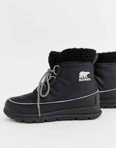 Черные непромокаемые ботинки с флисовой подкладкой Sorel Explorer Carnival-Черный