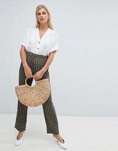 Широкие брюки с полосками Vila-Мульти