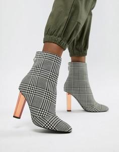 Ботинки на каблуке ASOS DESIGN-Мульти