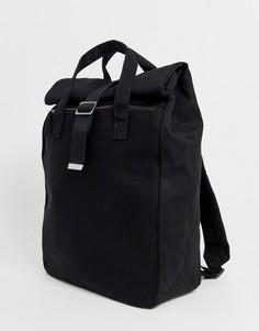 Черный парусиновый рюкзак ролл-топ ASOS DESIGN