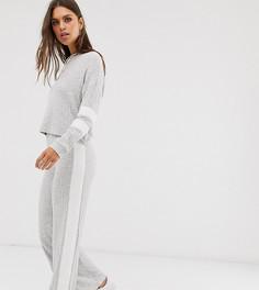 Широкие брюки в рубчик из комплекта Micha Lounge-Серый