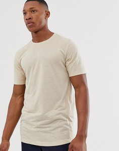 Белая льняная футболка Jack & Jones Premium-Белый