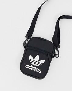 Черная сумка с логотипом-трилистником adidas Originals-Черный