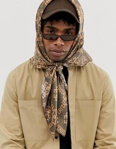 Oversize-шарф с принтом ASOS DESIGN-Коричневый
