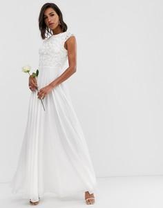 Свадебное платье с отделкой на лифе ASOS EDITION-Белый