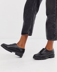 Кожаные броги на шнуровке Dune Florrie-Черный