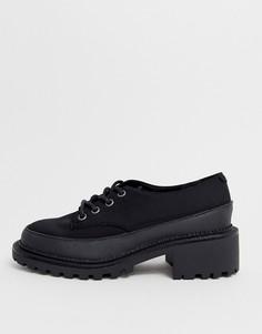Черные туфли на плоской подошве со шнуровкой ASOS DESIGN Mix Up-Черный