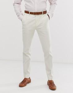 Светло-бежевые льняные брюки скинни Avail London-Светло-бежевый