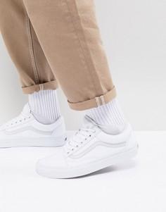 Белые кроссовки Vans Old Skool-Белый