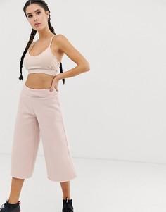 Розовые широкие джоггеры Reebok-Розовый