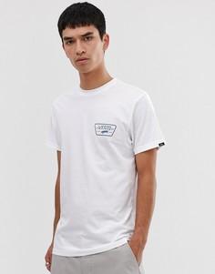 Белая футболка с принтом логотипа на спине Vans-Белый