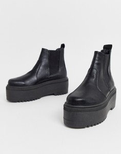 Черные массивные ботинки челси ASOS DESIGN - Amplify-Черный