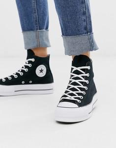 Черные высокие кеды на платформе Converse - Chuck Taylor-Черный