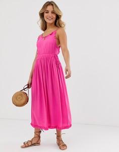 Летнее платье миди Maison Scotch-Розовый