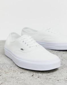 Белые кроссовки Vans Authentic-Белый