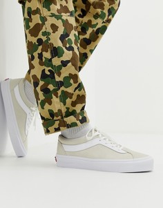 Бежевые кроссовки Vans Bold-Белый