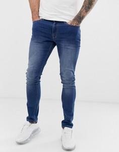 Выбеленные джинсы скинни Voi Jeans-Синий