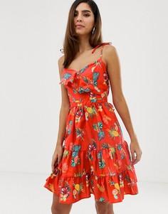 Летнее платье с цветочным принтом Naf Naf-Мульти
