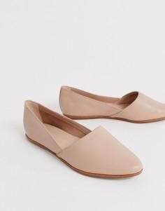 Розовые туфли из мягкой кожи на плоской подошве ALDO Blanchette-Розовый