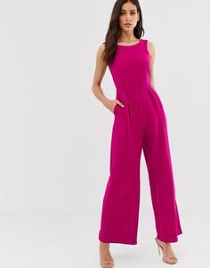 Комбинезон с V-образным вырезом на спине Closet-Розовый