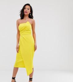 Желтое платье-футляр асимметричного кроя Laced In Love-Желтый