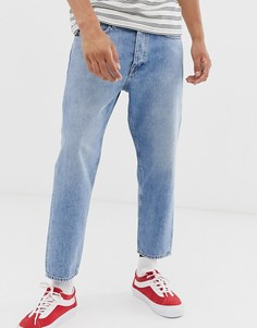 Светлые суженные книзу джинсы укороченного кроя Tiger Of Sweden Jeans Jude-Синий