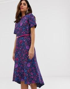 Платье с асимметричным краем Closet-Темно-синий