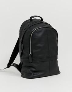 Кожаный рюкзак ASOS DESIGN harvard-Черный