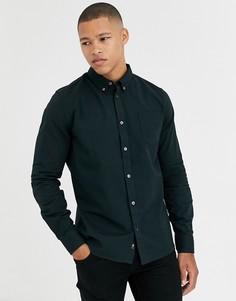 Зеленая оксфордская рубашка с длинными рукавами Burton Menswear-Зеленый
