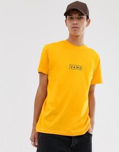 Желтая футболка с квадратным логотипом Vans-Желтый