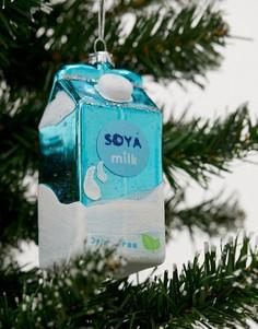 """Новогоднее елочное украшение \Соевое молоко\"""" Sass & Belle-Мульти"""