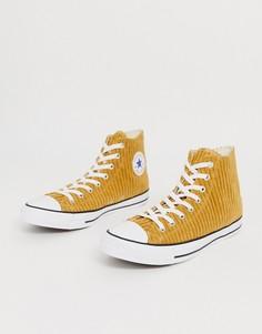 Вельветовые кеды золотистого цвета Converse Chuck Taylor All Star-Золотой