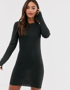 Темно-серое платье-джемпер Brave Soul Mando-Серый