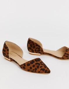 Туфли на плоской подошве с леопардовым принтом RAID-Мульти