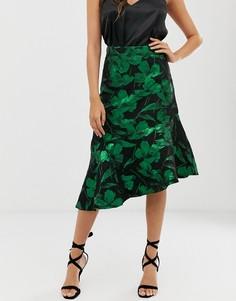 Юбка с асимметричным краем Closet-Зеленый