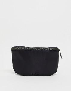 Черная нейлоновая сумка-кошелек на пояс Matt & Nat-Черный