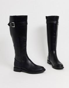 Черные ботинки на плоской подошве ASOS DESIGN Constance-Черный