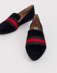 Черные замшевые туфли на плоской подошве Steve Madden Nema-Мульти