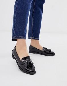 Черные туфли на плоской подошве ASOS DESIGN - Millie-Черный