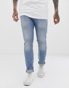 Светлые зауженные джинсы с классической талией Levis 510 nurse warp cool-Синий Levis®