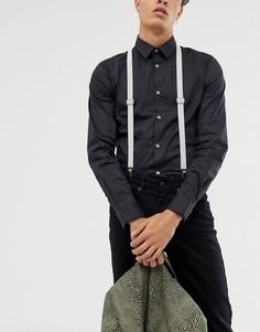 Светло-серые подтяжки Twisted Tailor-Серый