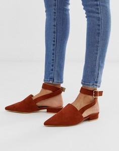 Туфли на плоской подошве коньячного цвета RAID Sanoura-Коричневый