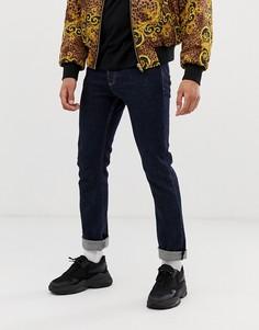 Выбеленные джинсы скинни Versace Jeans Couture-Синий