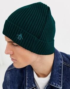 Зеленая шапка-бини Original Penguin-Зеленый