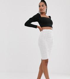 Белая юбка со сборками Flounce London-Белый