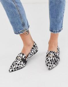 Туфли на плоской подошве с острым носком и металлической отделкой Park Lane-Мульти